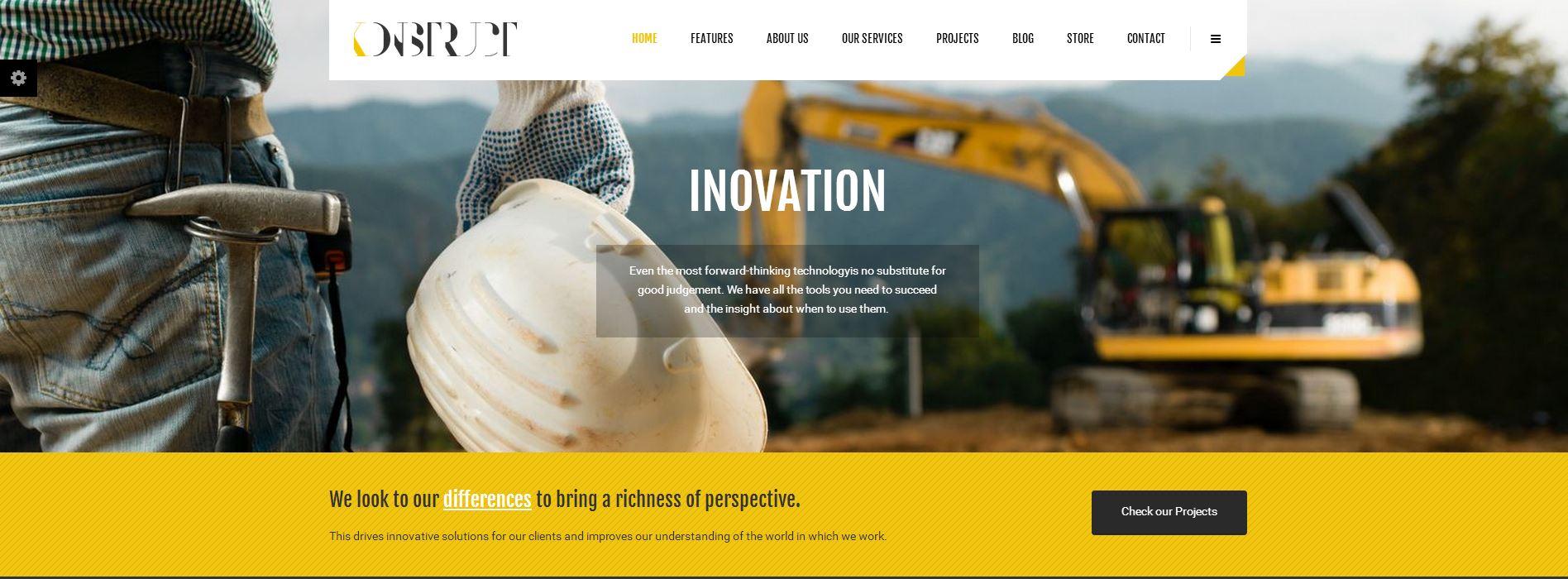 Web para Empresas de Construcción