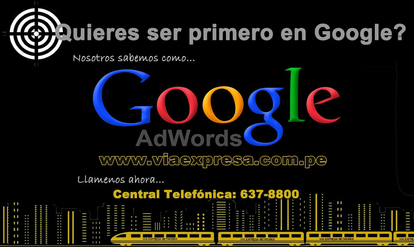 Quieres ser primero en Google - Google ADWORDS para Empresas y Negocios